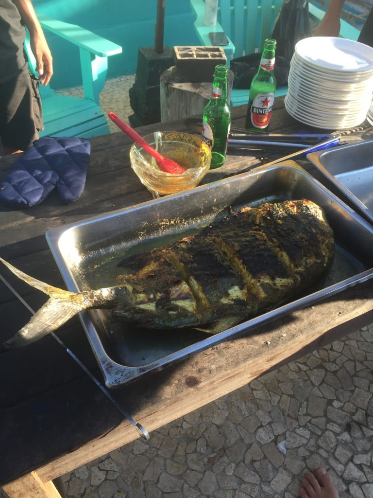 There's nothing like grilled fresh fish! Here's a still of the magnificent fish we devoured as food.