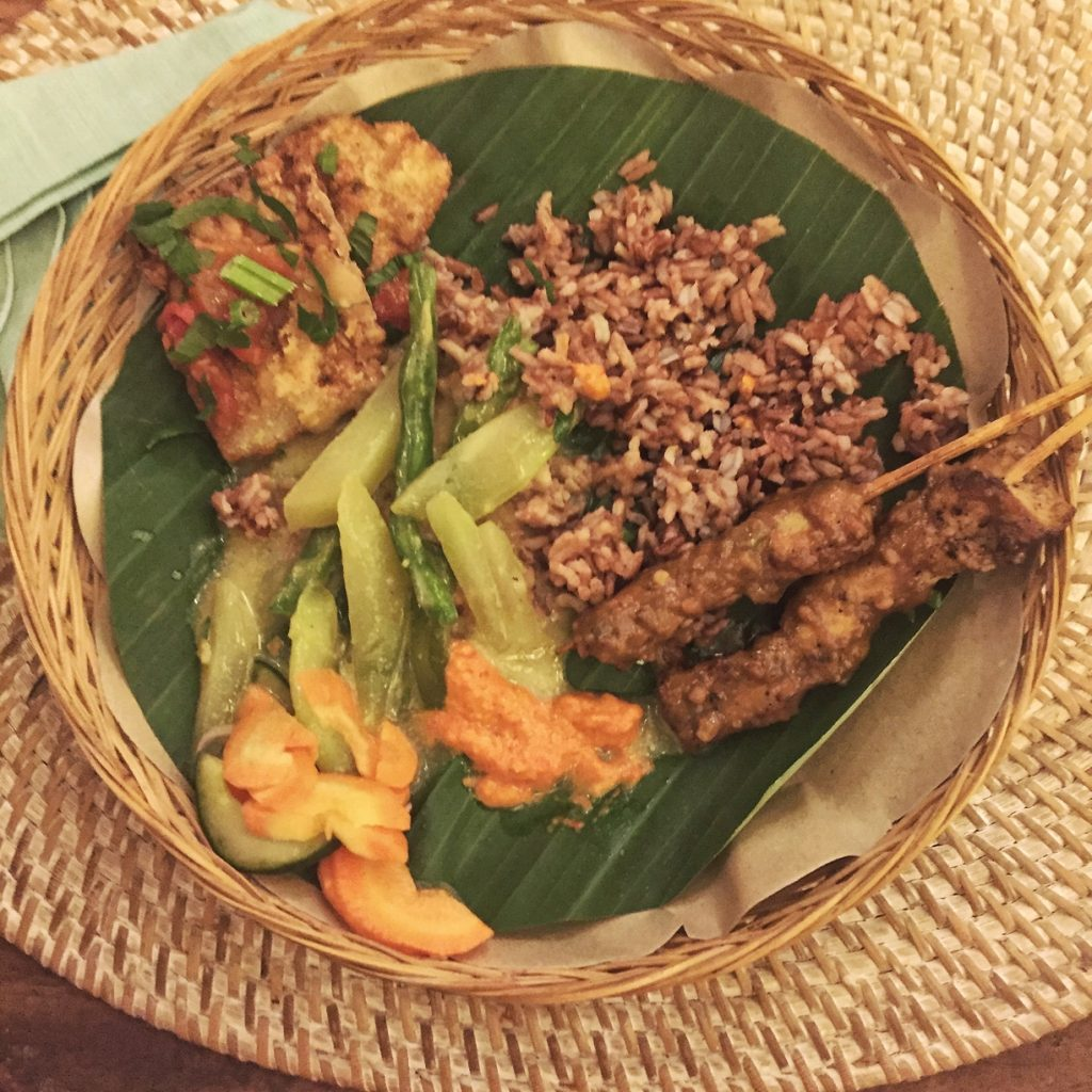 A traditional Balinese meal at the Chillhouse