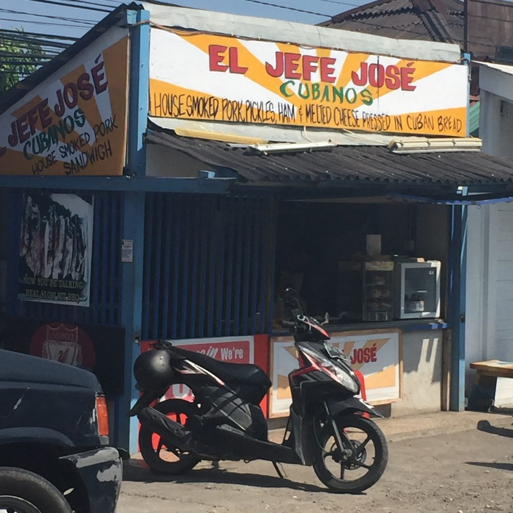 El Jefe Jose on the way to Batu Bolong & Echo Beach has the cheesiest cubanos sandwiches, EVER!