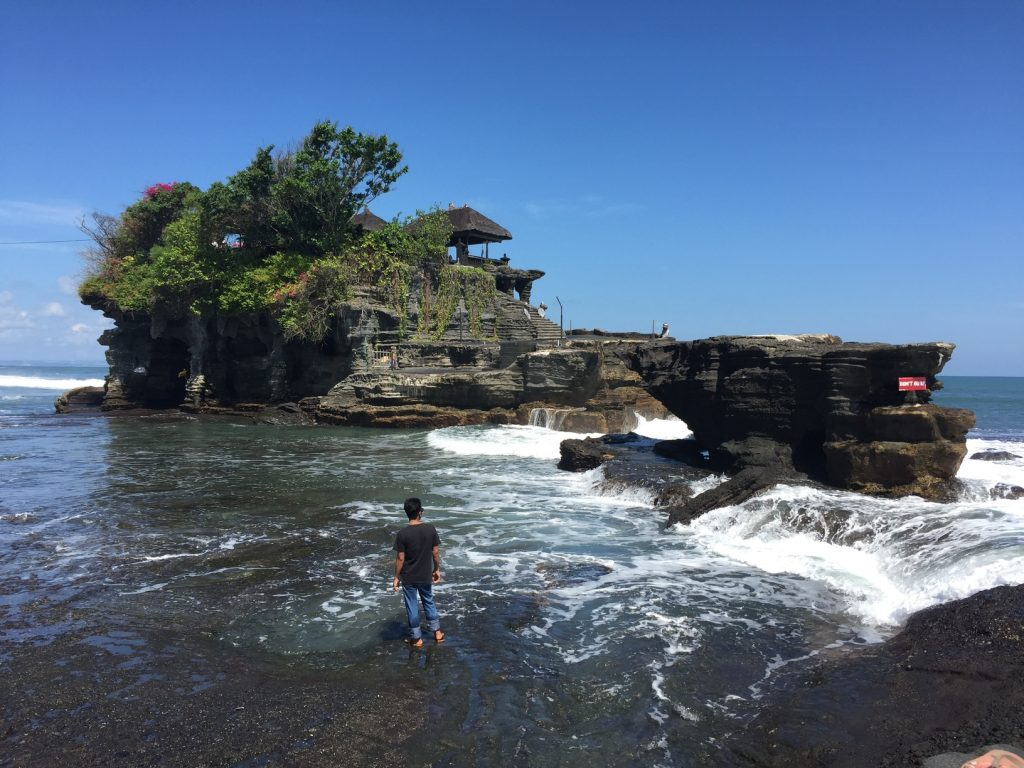Tanah Lot temple rests on a massive rock. | 3 Bali temples to visit