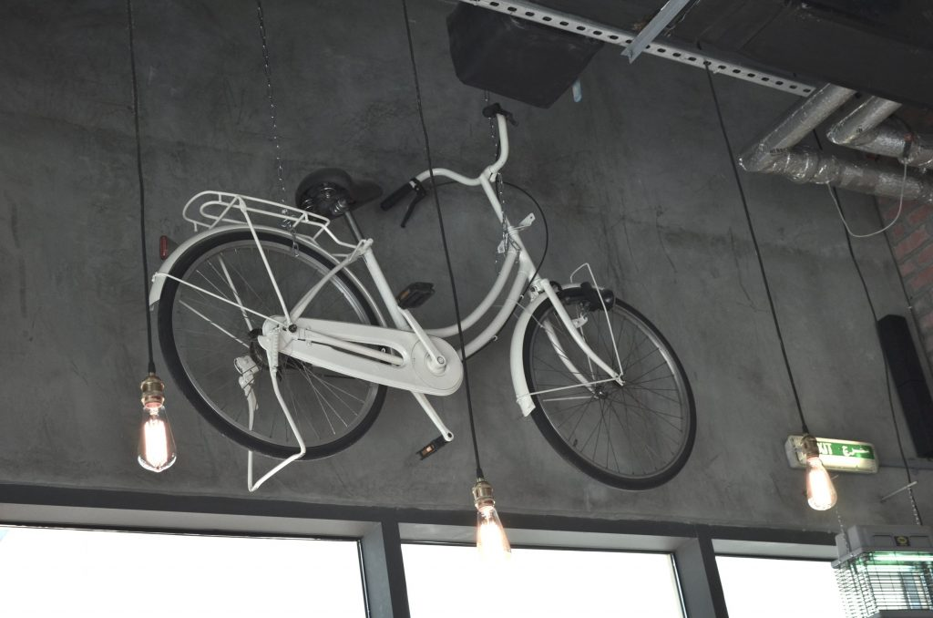Cycles on the wall give this place a super hispter feel!|Friends' Avenue|JLT