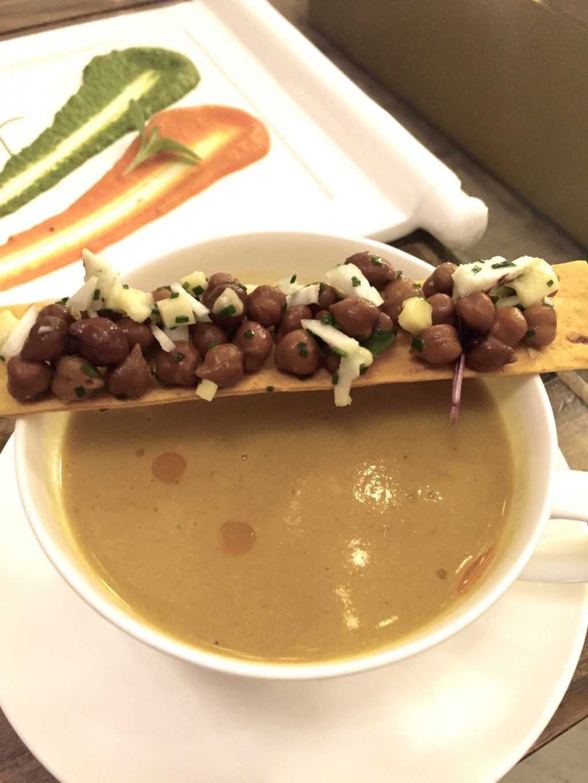 Divine chicken mulligatawny soup! Farzi Twist Farzi Cafe