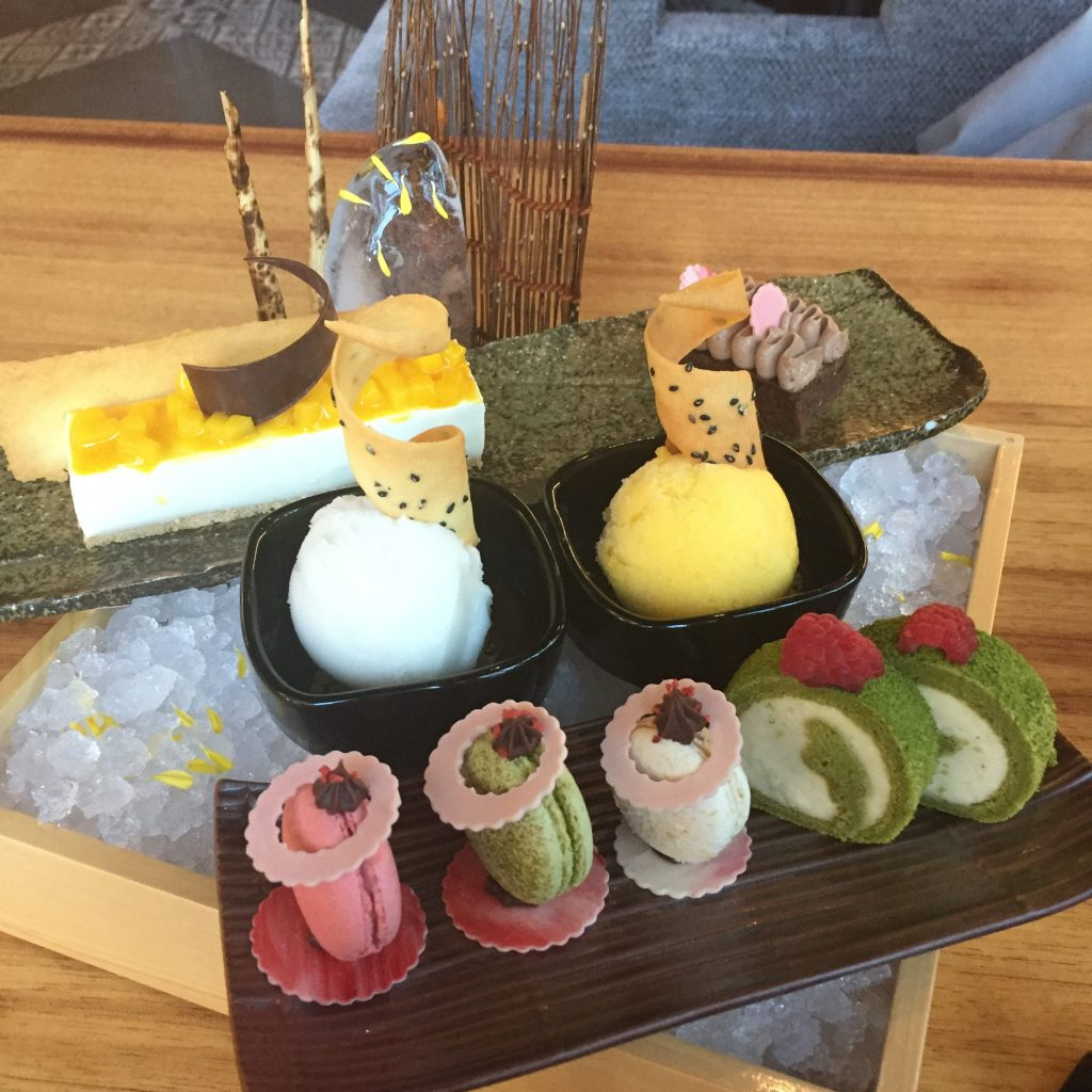 The beautifully laid out dessert spread|Katana Red Sun brunch||Osusume brunch