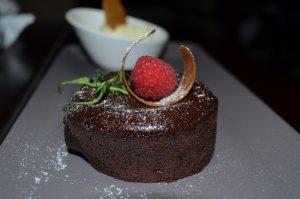 Chocolate fondant at RARE| Desert Palm Per Aquum