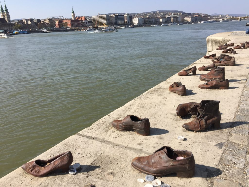 Shoes by the river Danube|Budapest itinerary