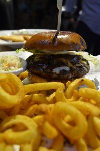 Original Wings & Rings DIFC  Hawaiian burger