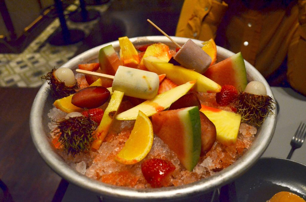 Moombai & Co |Dubai's licensed Parsi cafe|Fruit platter
