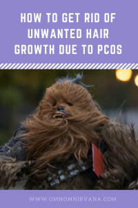 How to get rid of unwanted hair growth PCOS -pin image