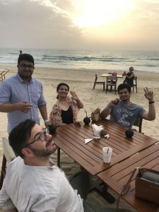 Birthday crew at Key West Brunch Dubai