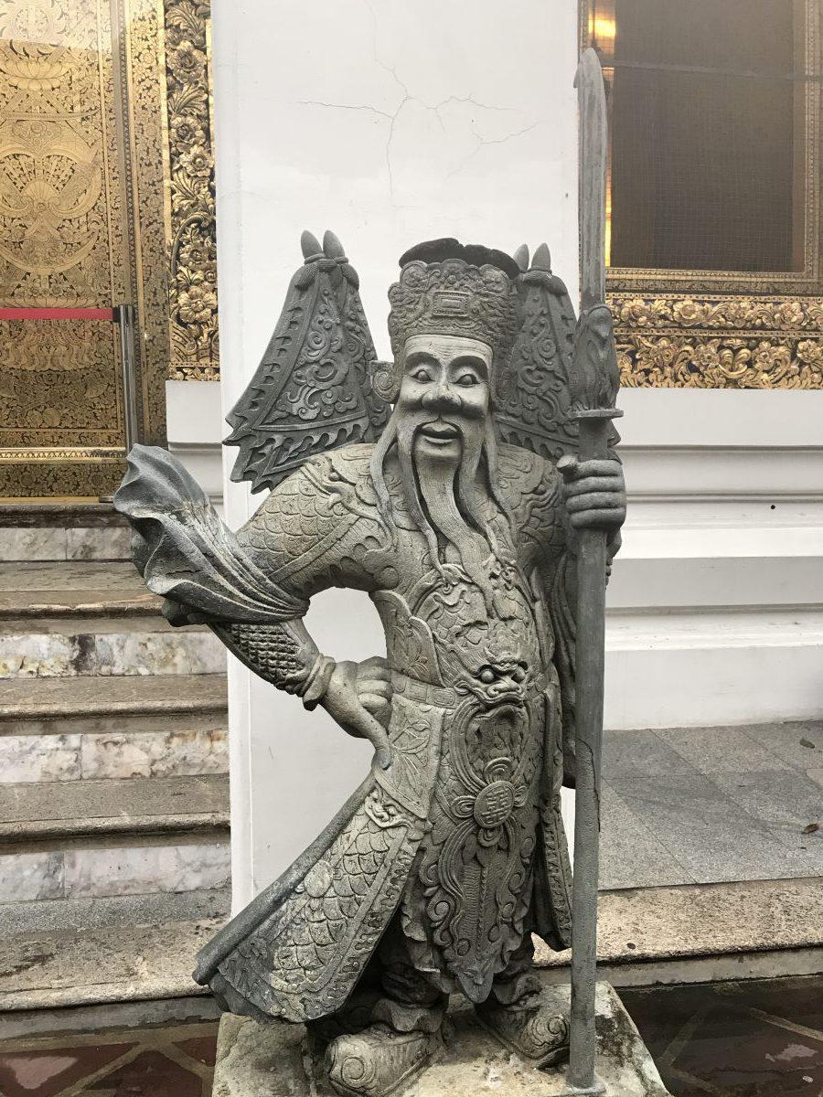 2 days Bangkok itinerary   stone Chinese guardians at Wat Pho