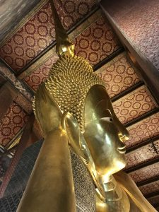 Reclining buddha head