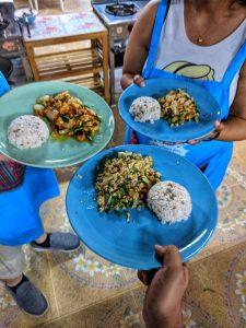 Delicious Thai basil stir fry and cashew stir fry at Mama Noi
