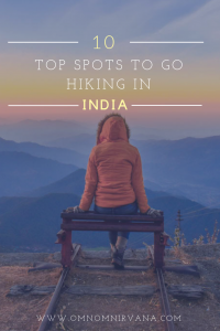 Pin for top 10 hiking spots in India