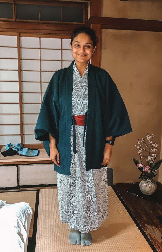 Me in my yukata (summer kimono)