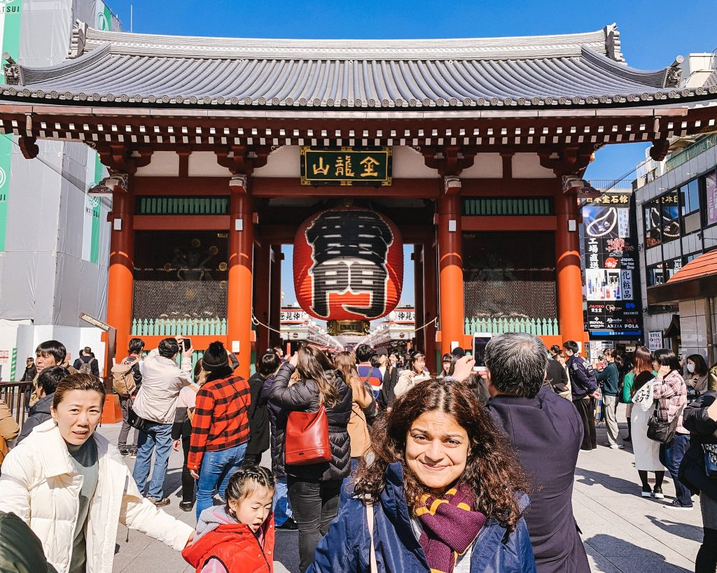 The entrance to Senso-Ji Temple