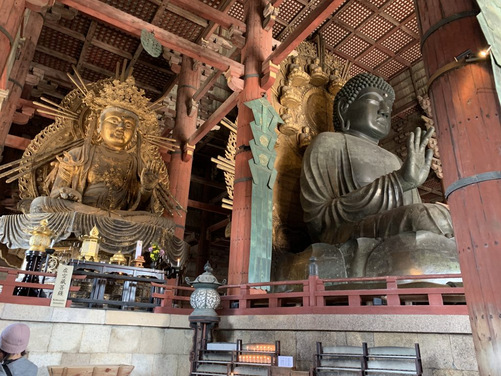 Beautiful Buddha statue inside