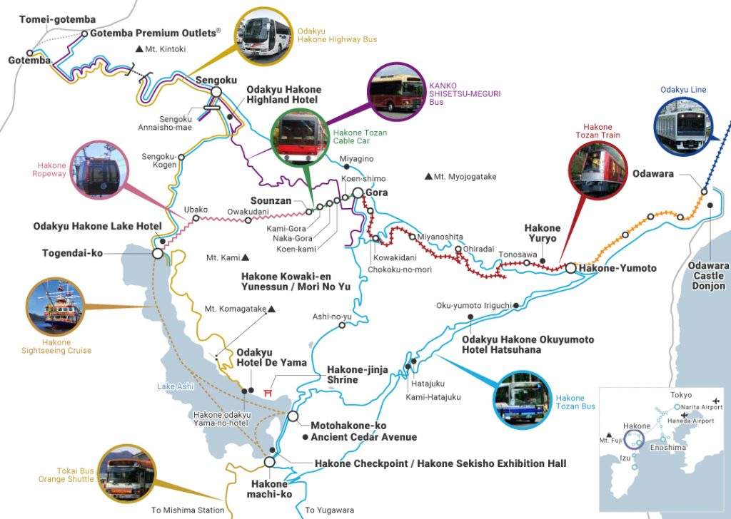 Routes you can take with the Hakone Free Pass Image credit: Odakyu