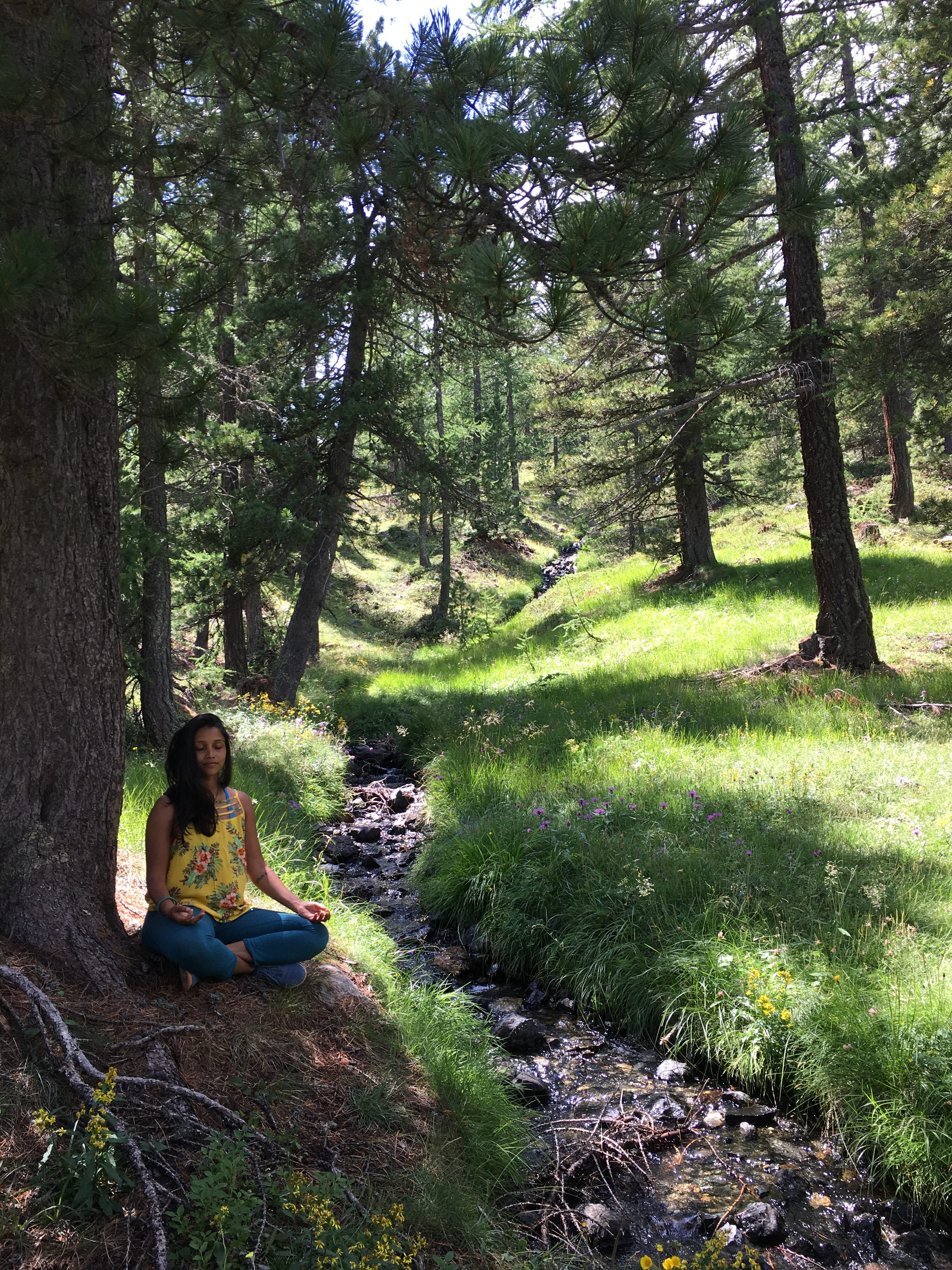 Meditation in Sagna Longa, Italy