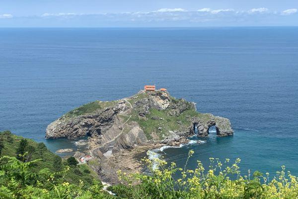 View of Gaztelugatxe islet